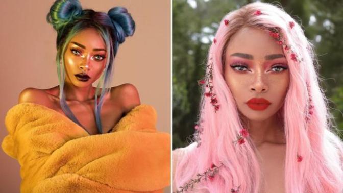 Gökkuşağını Kıskandıran Saçlara Sahip Nyane Lebajoa'dan Muhteşem Kareler!