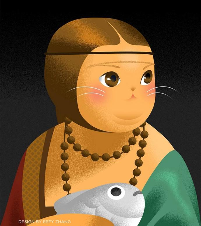 Kakımlı Kadın-Leonardo Da Vinci