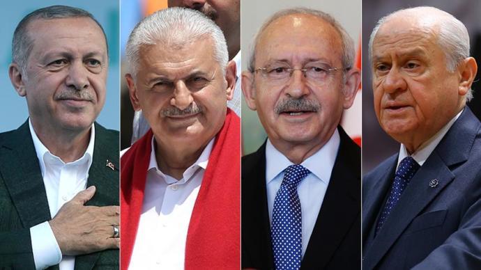 Cumhurbaşkanı Erdoğan oyunu İstanbul'da, Başbakan Yıldırım İzmir'de, CHP Genel Başkanı Kılıçdaroğlu ve MHP Genel Başkanı Bahçeli Ankara'da kullanacak.
