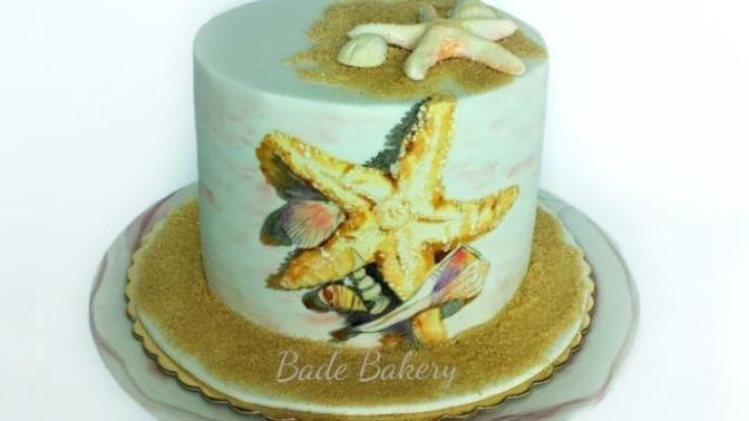 Deniz Yıldızı Temalı Pasta Yapımı