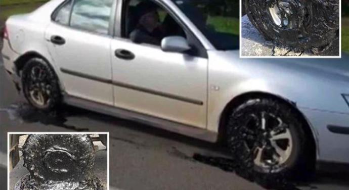 Sıcak Havada Asfalt Eriyince Araç Sahipleri Araçlarını Terk Etti
