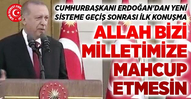 Cumhurbaşkanı Erdoğan'dan Yeni Sisteme Geçiş Sonrası İlk Konuşma