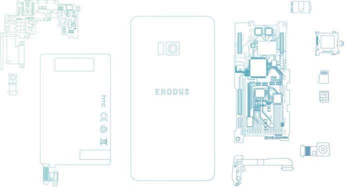 HTC Kripto Paralar İçin Blok Zinciri Olan Exodus Modelini Üretti