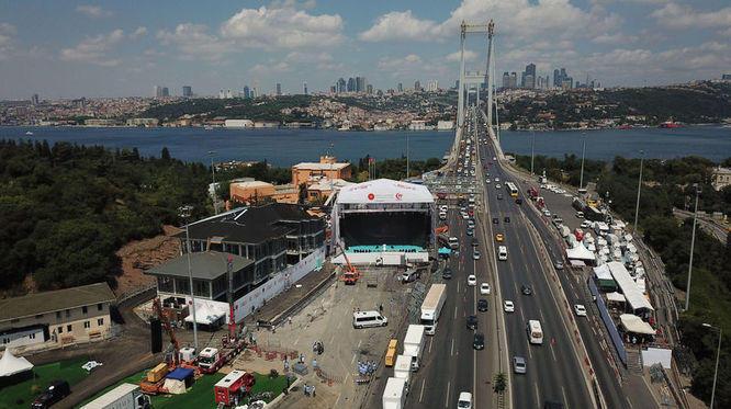 Son Dakika: 15 Temmuz Şehitler Köprüsü'nde Yürüyüş Başladı