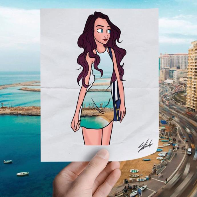 Turizmi Teşvik Etmek Amacıyla Doğa ile Çizimi Bütünleştiren Sanatçının Hayran Kalacağınız Eserleri!