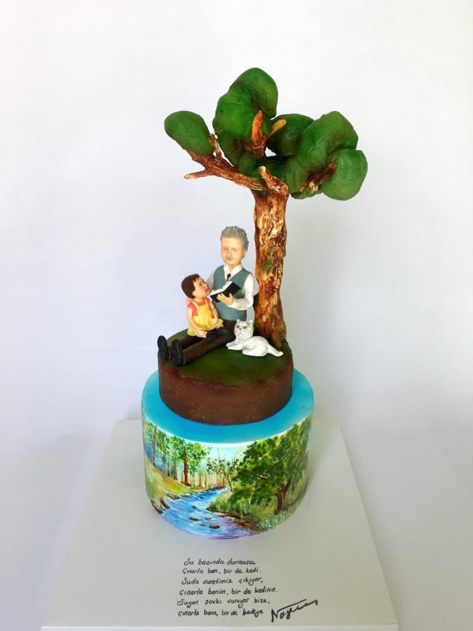 Hikayesi olan doğum günü pastası