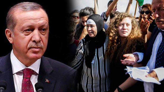 Cumhurbaşkanı Erdoğan Filistin'in Sembolü Ahed Tamimi'yle Görüştü