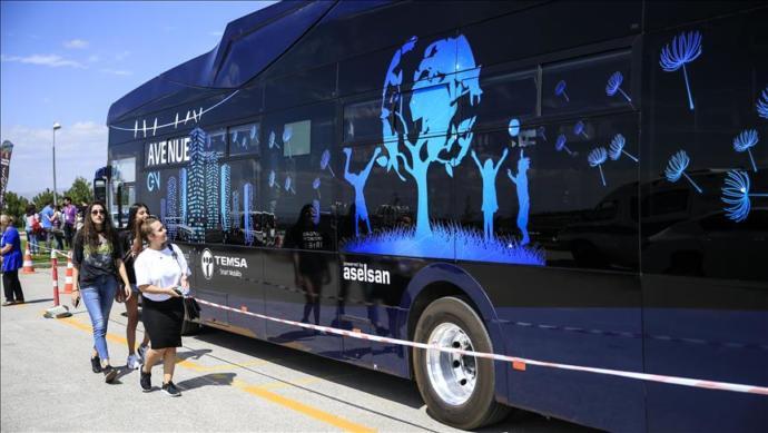 Türkiye'nin 'Hızlı Şarj' Özelliğine Sahip İlk Otobüsü Hacettepe'de Öğrencilerle Buluştu