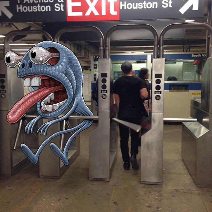 Metroda Canı Sıkılan Sanatçının Çizdiği Birbirinden Eğlenceli Çalışmalar!