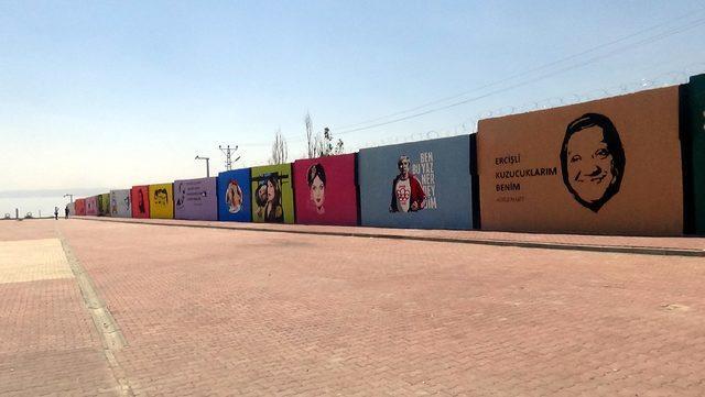 Erciş'te Duvarlar Yeşilçam Yıldızları ile Renklendi