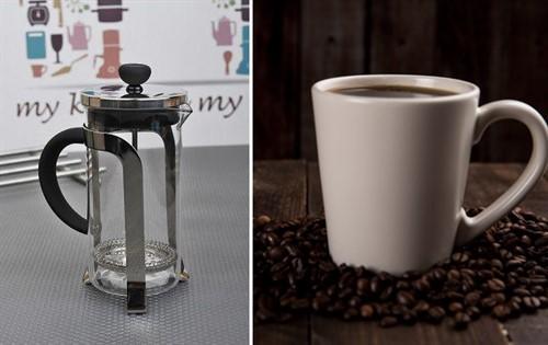 İçleri ısıtan güzel bir fincan filtre kahve için Fame Kitchen Çelik French Press