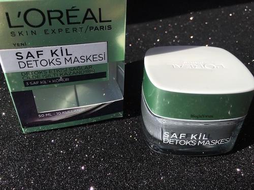 1) Yüzümüzün kalbimiz kadar temiz olması için Loreal Kil Maskesi