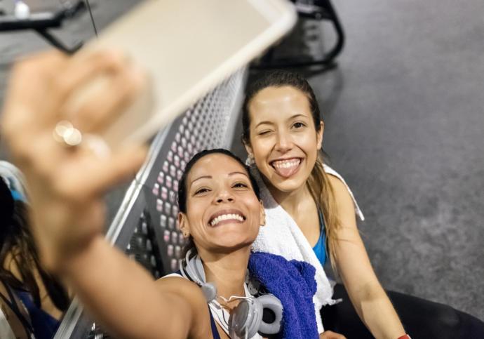 Spor Salonundan Gösteriş Sevenlere Dev Hizmet: Selfie Odası