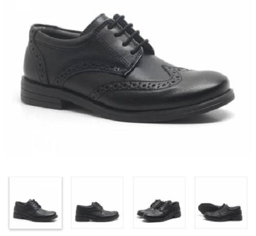 Raker Titan Siyah Mat Bağcıklı Erkek Çocuk Okul Ayakkabısı