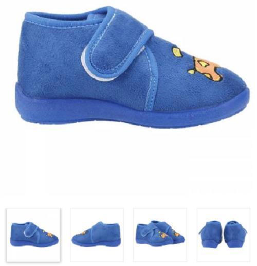 Akınalbella Ev Kreş Okul Kışlık Erkek Çocuk Mavi Panduf Ayakkabı