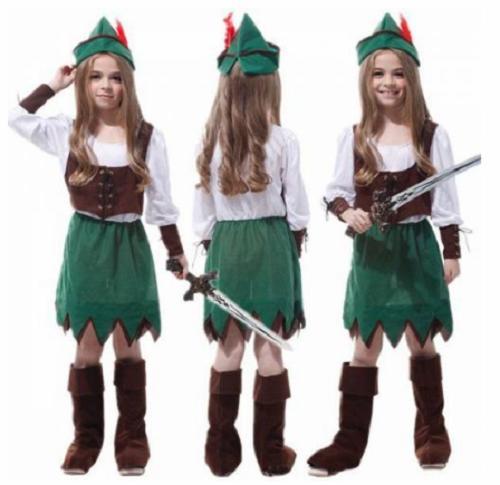 Peter Pan Kız Çocuk Kostümü