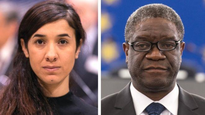 Murad ve Dr Mukwege, kadına yönelik şiddete karşı mücadelede büyük katkısı olan iki isim.