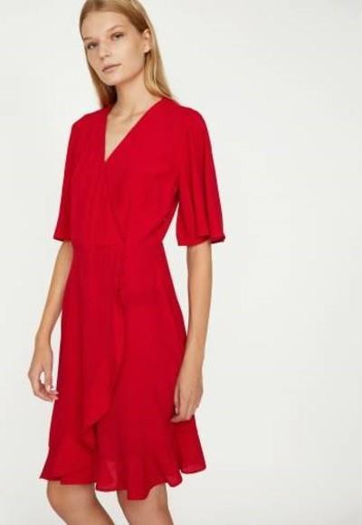 2. Fırfırlı Kırmızı Elbise