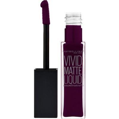 4. Maybelline New York Color Sensational Vivid Matte Liquid Ruj 45 Possessed Plum