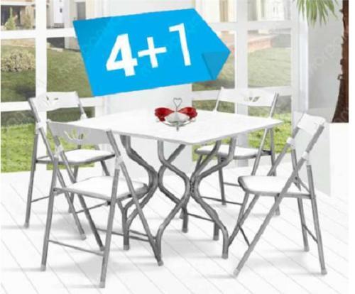Katlanabilir Kırma Mutfak Balkon Masa Seti