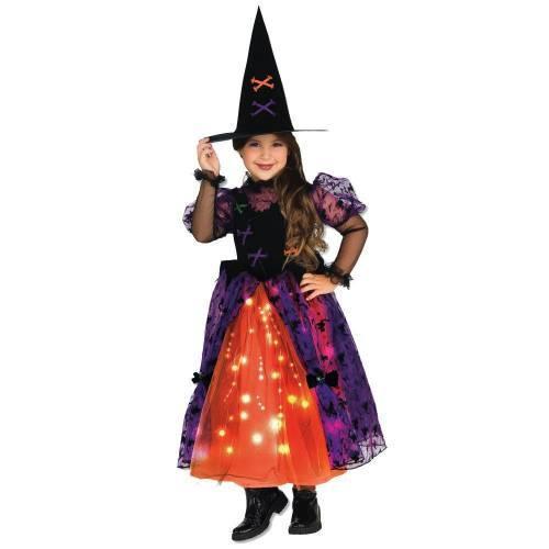 Işıklı Sevimli Cadı Kostümü 7-8 Yaş