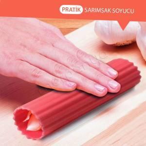 2.Sarımsağı soyarken eline sinen kokuya çözüm getiren silikon sarımsak soyma aleti