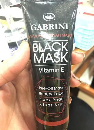 Gabrini Soyulabilir Siyah Maske