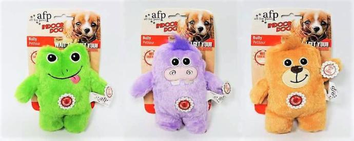 Afp Indoor Dog Toy-İçerisi Ses Çıkaran Peluş Kurbağa Köpek Oyuncağı