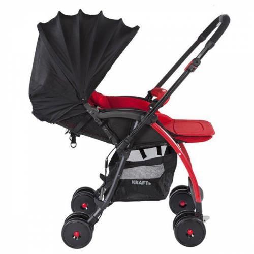 Kraft Pop Çift Yönlü Bebek Arabası Kırmızı
