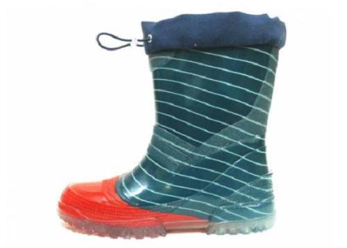 Gezer 409 Yeşil Kırmızı Su Geçirmez Çocuk Yağmur Çizmesi