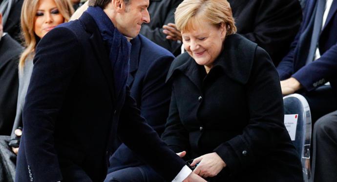 101 Yaşındaki Kadın Tarafından Macron'un Eşine Benzetilen Merkel: Ben Şansölyeyim