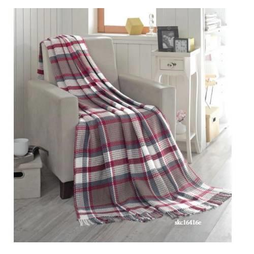 Sesli Home Comfort pamuklu skoç battaniye