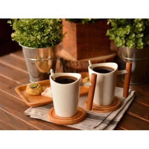 Bambum Rifate 6 parça kahve servis seti