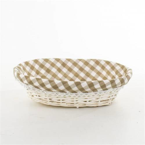 Bez Kaplamalı Oval Ekmek Sepeti