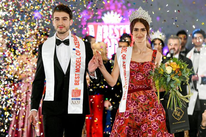 Yarışmada birinci seçilen Aygül Safarova ve Şakir Ahmedzade, ödüt töreninde oldukça heyecanlıydı.