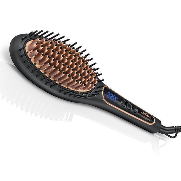 Arzum AR5036 Superstar Saç Düzleştirici Fırça Siyah