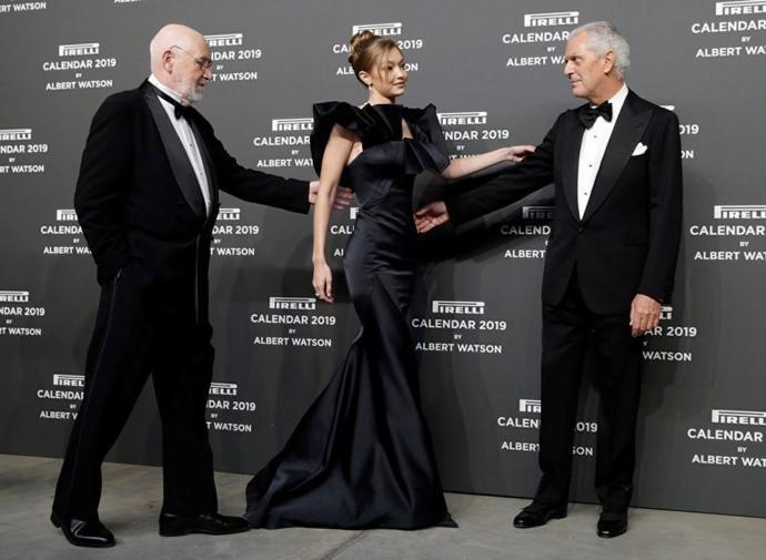 Pirelli Takvimi'nin Tanıtım Gecesine Gigi Hadid Damgasını Vurdu