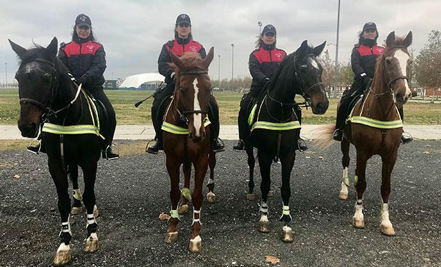 Kadın Atlı Polisler İlk Görevini Gerçekleştirdi