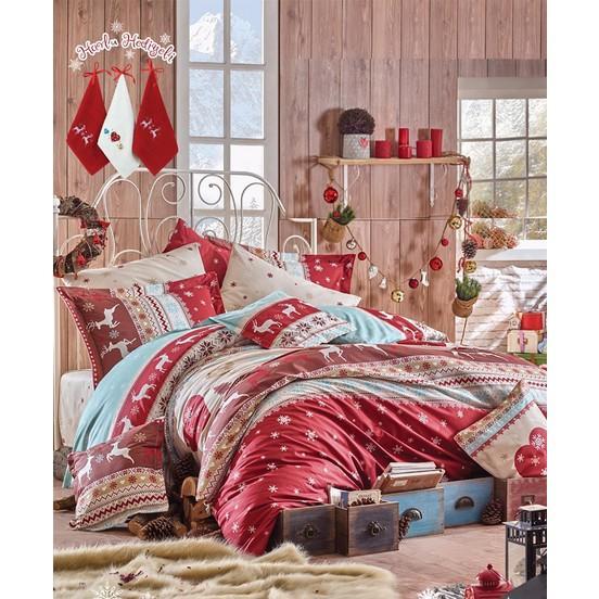 Uyumayı çok sevenlerin olmazsa olmazı yatak odası için yeni yıl nevresim takımı