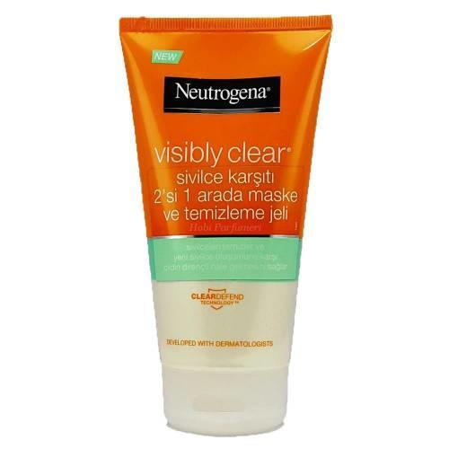 Neutrogena Visibly Clear Sivilce Karşıtı 2'si 1 arada Maske ve Temizleme Jeli