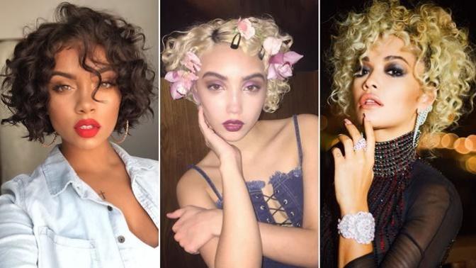 Kısa ve Kıvırcık Saçın Gelmiş Geçmiş En Güzel Saç Modeli Olabileceğini Gösteren Kadınlar!