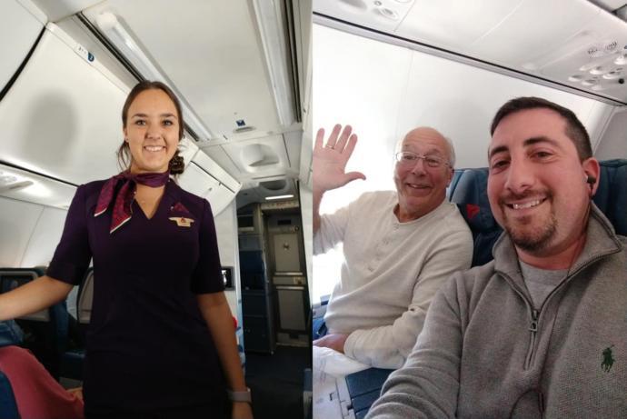 Hostes Kızını Yalnız Bırakmak İstemeyen Baba, Tüm Uçuşlara Bilet Aldı