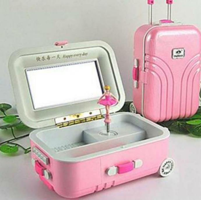 Bavul Tasarımlı Müzik Ve Takı Kutusu
