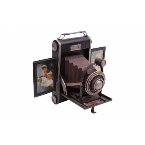 Nostaljik Metal Fotoğraf Makinası ve Resim Çerçevesi