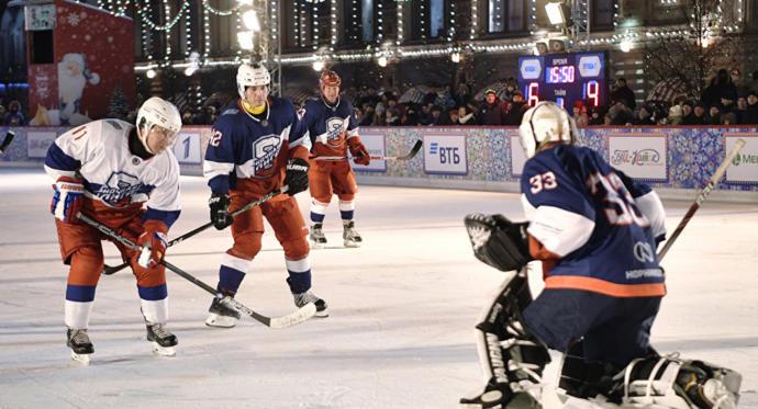 Vladimir Putin ve NHL yıldızları