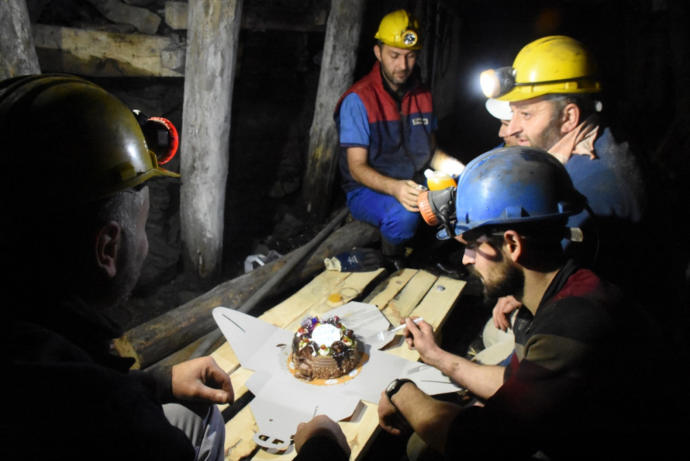Zonguldak'ta maden işçileri