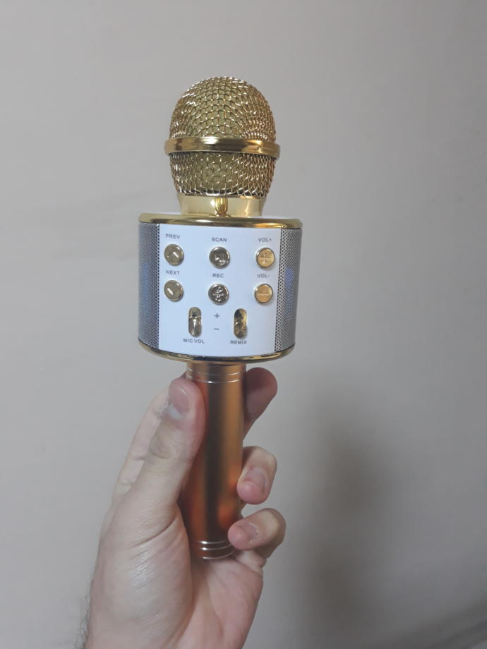Sihirli Karaoke Mikrofonu Bluetooth ve Sd Kart Destekli