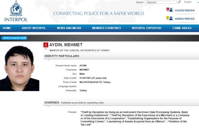 Mehmet Aydın Interpol'un Listesine Girdi! (Çiftlik Bank)