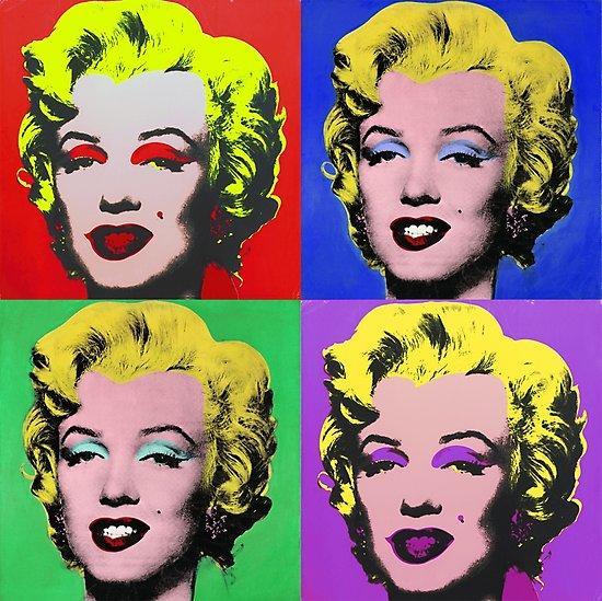 Andy Warhol'un ünlü Marilyn Monroe' tabloları halen tercih ediliyor.