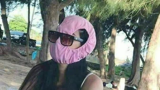 İç Çamaşırlarını Maske Yaptılar!
